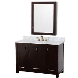 bathroom vanity with medicine cabinet wyndham collection 48 inch abingdon bathroom vanity wc