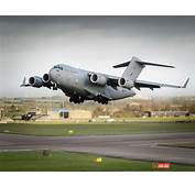 C17 Transport Aircraft Taking Off From RAF Brize