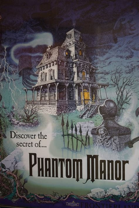 libro hidden paris discovering and discover the secret of phantom manor at disneyland paris dlp dlrp disney frontierland poster