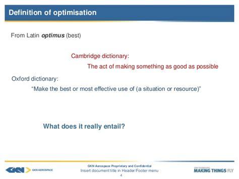 design optimisation meaning optimisation in aerospace