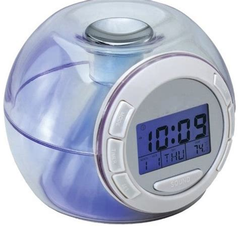 7 color switching changing light alarm clock with nature sound