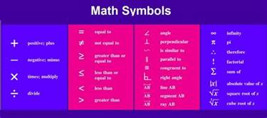 mathematical symbols pictures to pin on pinsdaddy