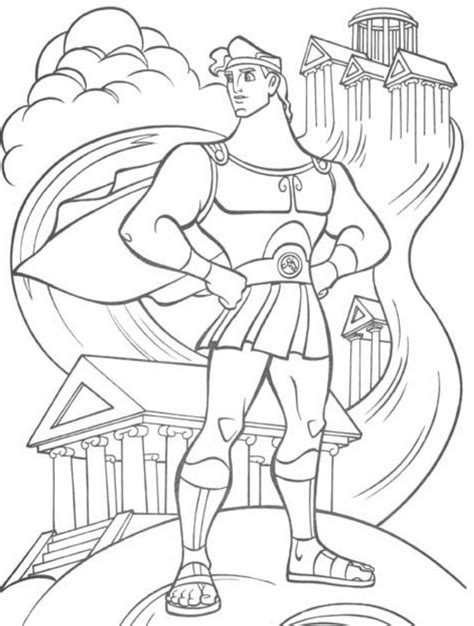 disney coloring pages for boy hercules coloring sheets