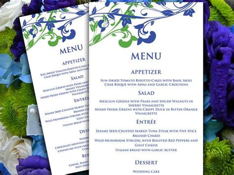 whimsical menu place card template wedding menu card microsoft word template whimsical