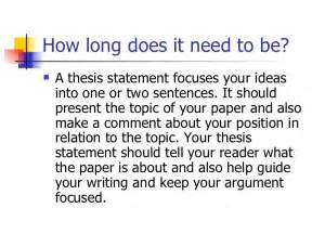 What Does Thesis Statement Thesis Statement Workshop