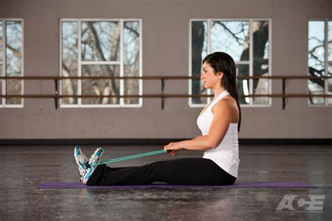 ace fit  leg exercises seated calf stretch