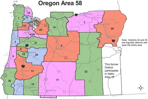 Find Oregon Oregon Districts Map 2015 Oregon Area 58