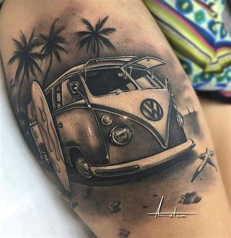 collection of 25 hippie volkswagen tattoo design
