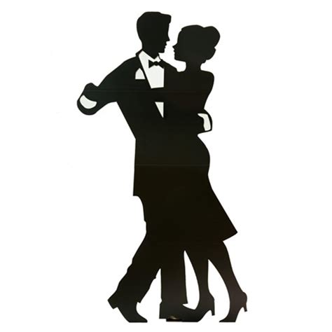 Crystal Drape Large Dancing Couple Cut Out Silhouette