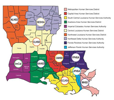 louisiana hospitals map locate services department of health state of louisiana