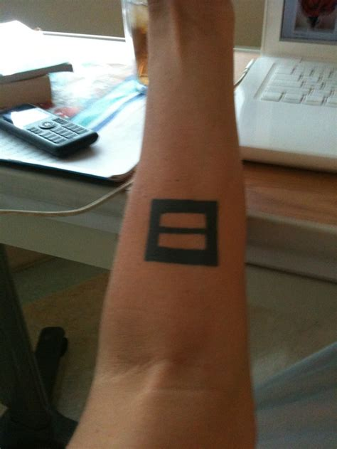 equal sign tattoo meaning my equal rights cool tatts