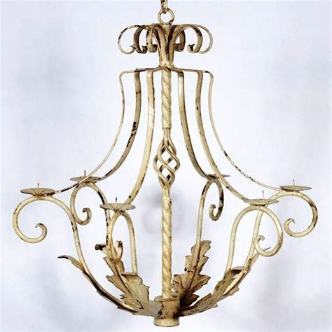 Wrought Iron Candle Chandeliers 31 Quot Wrought Iron Naples Candle Chandelier
