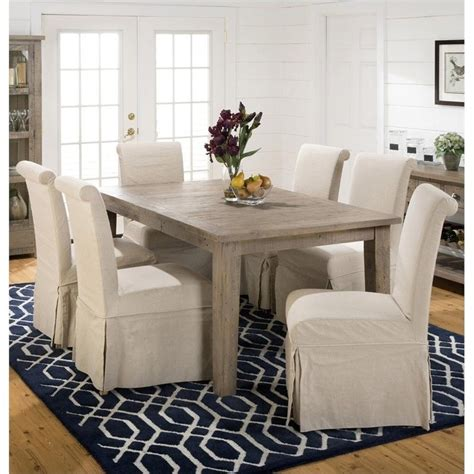 light pine kitchen table set 7 piece and chairs dining jofran 941 series 7 piece dining table set in slater mill