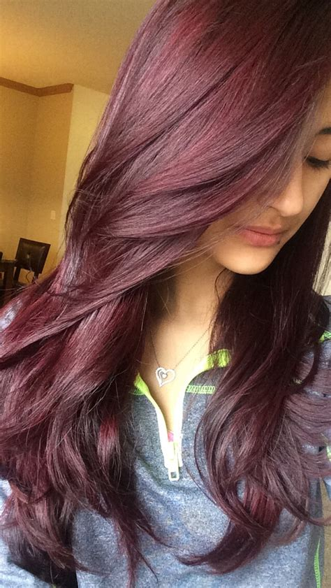 hair with purple tint dark red wine with a purple tint by estefany vega