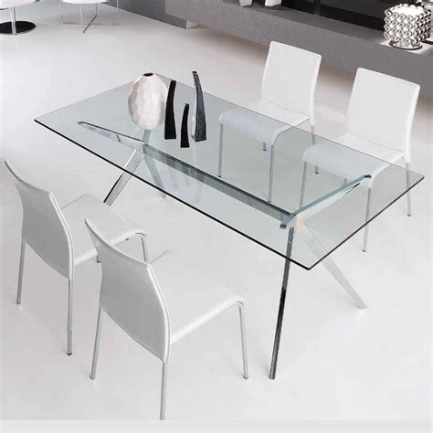 tavolo seven calligaris seven table by calligaris modern dining in glass chrome