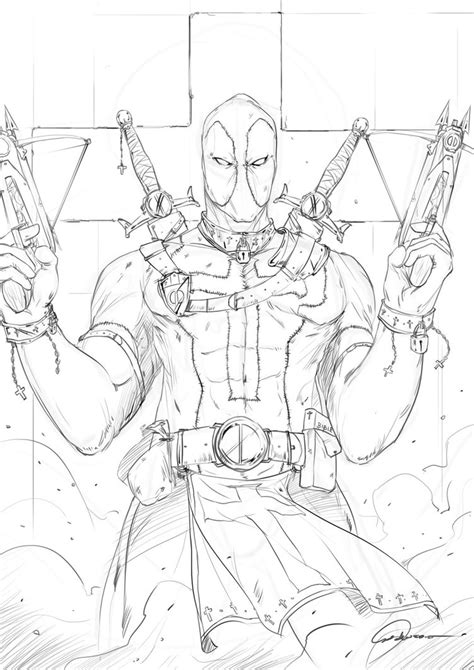 cool deadpool coloring pages medieval deadpool by johnsonting on deviantart