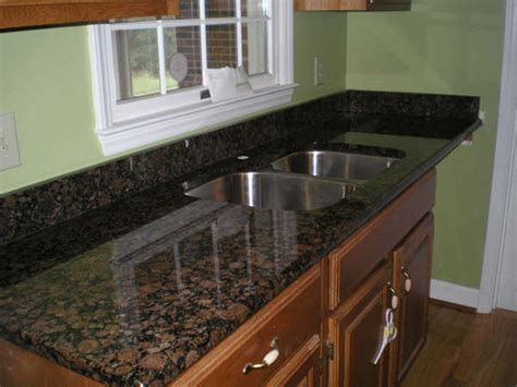 Kitchen Countertop Tile Design Ideas Dark Baltic Brown Granite Countertop With Sink