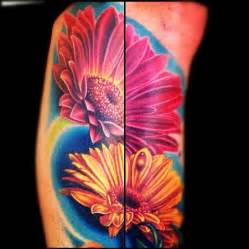color flower tattoos education tattoos nikko color flowers