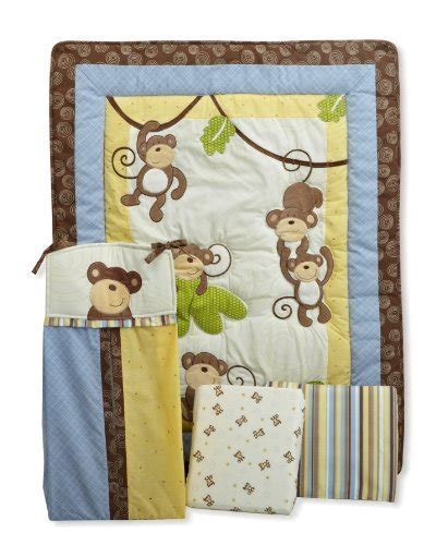 Monkey Crib Bedding Sets For Boys And Colorful Boys Monkey Crib Bedding Decor