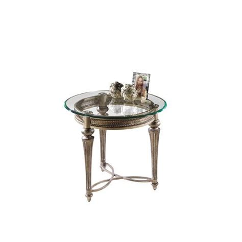 round accent table with glass top galloway glass round end table w glass top magnussen home