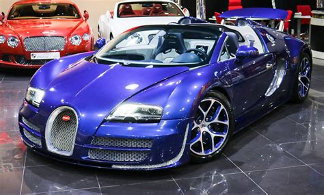 blue bugatti bespoke blue on blue bugatti veyron vitesse for sale