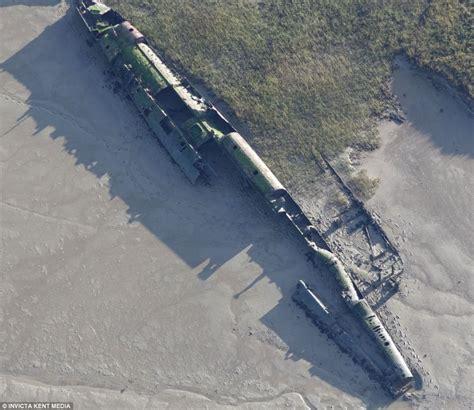 A monster off the British coast: Rusting hulk of World War ... U Boat