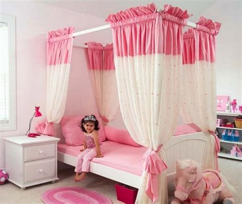 Interior Design Ideas Living Room Pictures - furniture beautiful bedroom design for kids with pink and white canopy bed designed with