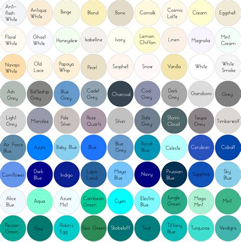Grey Blue Color Name | colour chart white grey blue cyan png images frompo
