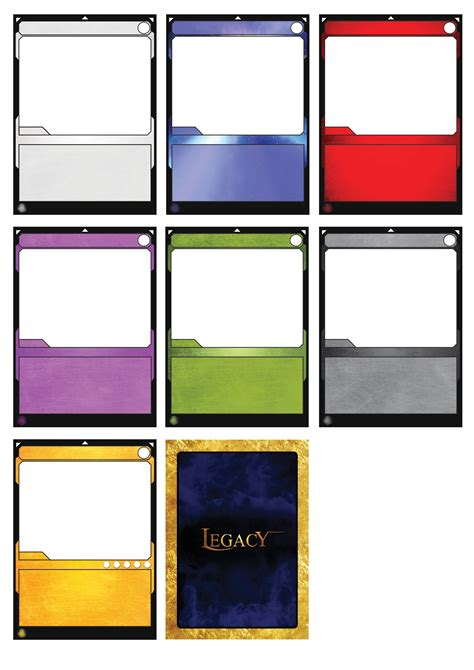 tcg card template best photos of card template board blank card