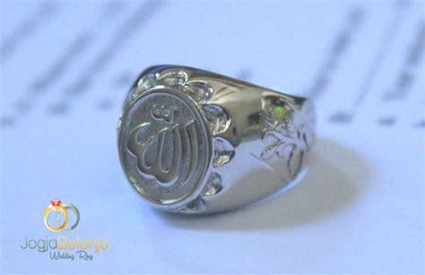 Cincin Singel Perak R 217 cincin kawin lafal allah bahan perak lapis emas cincin