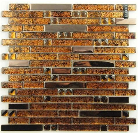 gold glass tile backsplash stainless steel glass mosaic tile ssmt149 gold metallic