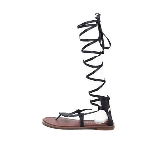 Lace Up Flat Sandals lace up gladiator flat sandals