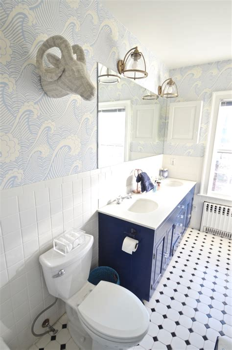 updated bathroom blue bathroom update at charlotte s house