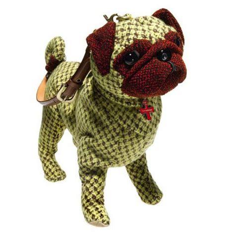 fuzzy nation pug fuzzy nation cornflower pug handbag garden hounds