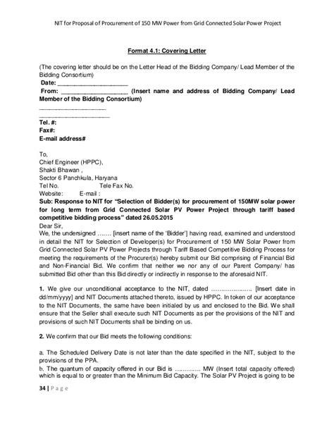 Award Letter Procurement Tender Letter Sle Proposals Design Bild