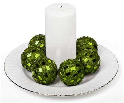 Green Decorative Balls by Apple Green Mirrored Disco Balls Centerpiece Mirrors