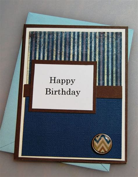 Handmade Birthday Cards For Guys - happy birthday masculine handmade birthday card