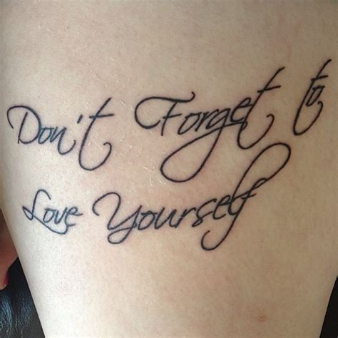 love yourself tattoo yourself quotes quotesgram