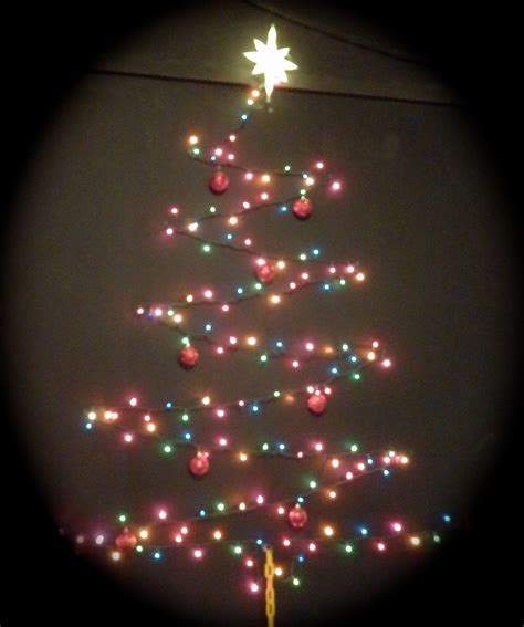 christmas tree out of lights on wall neuro tic com