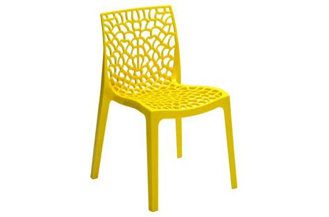 chaise design jaune perle gruyer opaque chaise design