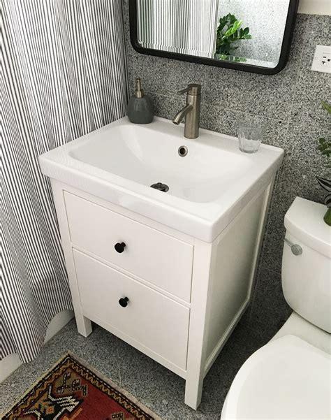 installing hemnes odensvik bathroom vanity sink