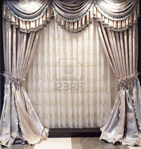 Designer Curtains | photo luxurious old fashioned designer window curtains