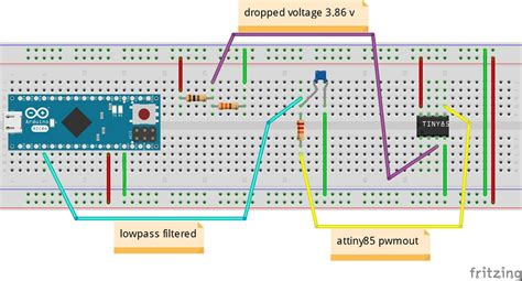 code arduino pwm programming attiny85 and arduino analogread pwmout
