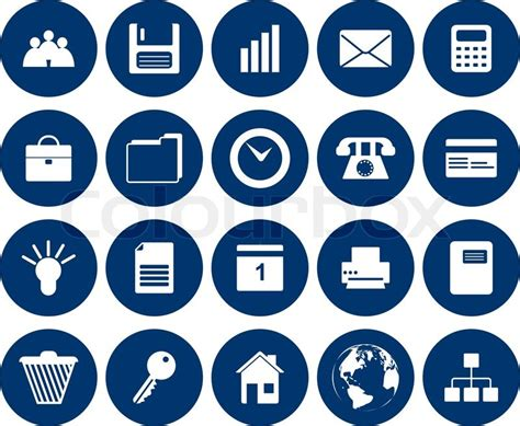 Best Software To Design A House business and office set of different vector web icons