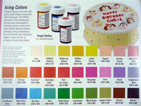wilton colors wilton to wilton icing cake and