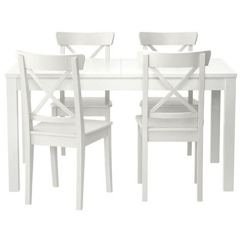 bjursta tavolo bjursta ingolf tavolo e 4 sedie bianco sedie tavolo