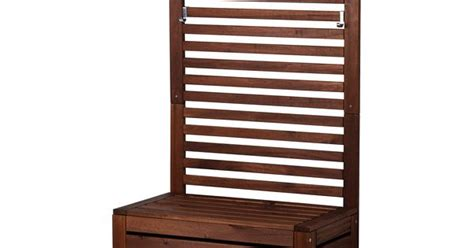 bench with wall panel 196 pplar 214 bench with wall panel outdoor brown stained