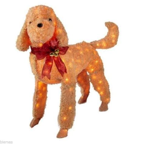 34 pre lit golden retriever christmas lawn ornament yard decorations dogs billingsblessingbags org