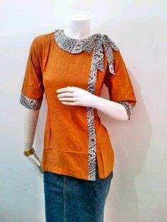 Riani Maxi Putih Batik Cokelat model baju batik kerja 1 fasion work models