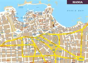 map of by city plattegronden kreta heraklion chania rethymnon